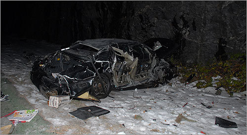 Photos of Timothy Murray's car crash released - Boston com