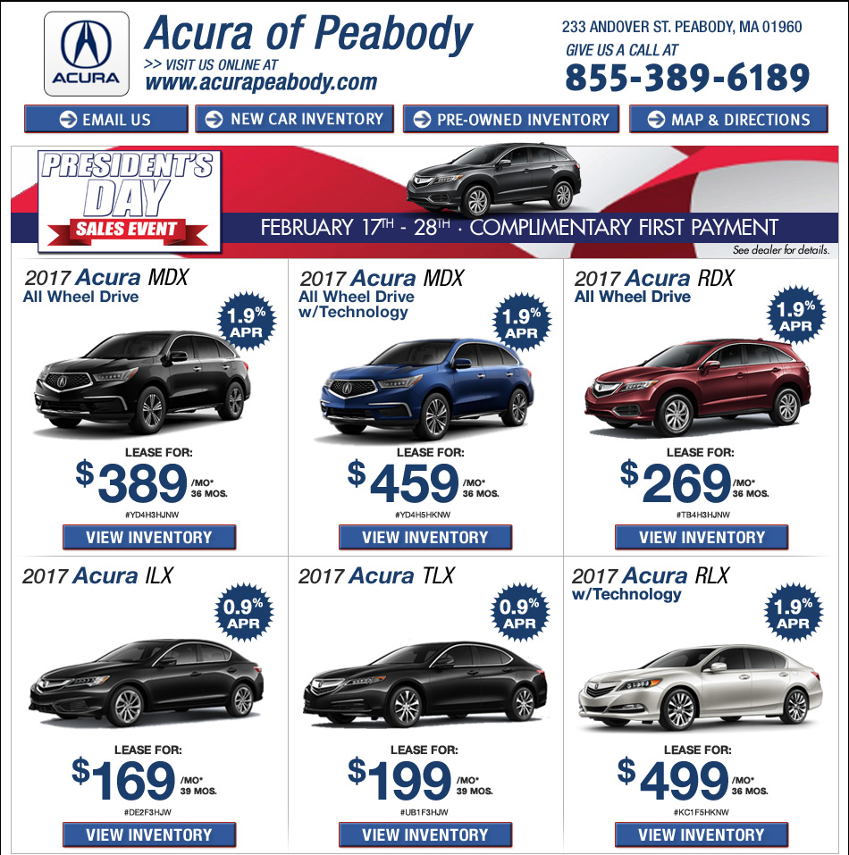 Acura Rdx Lease: Find Great Deals On A New Acura At Acura Of Peabody Online