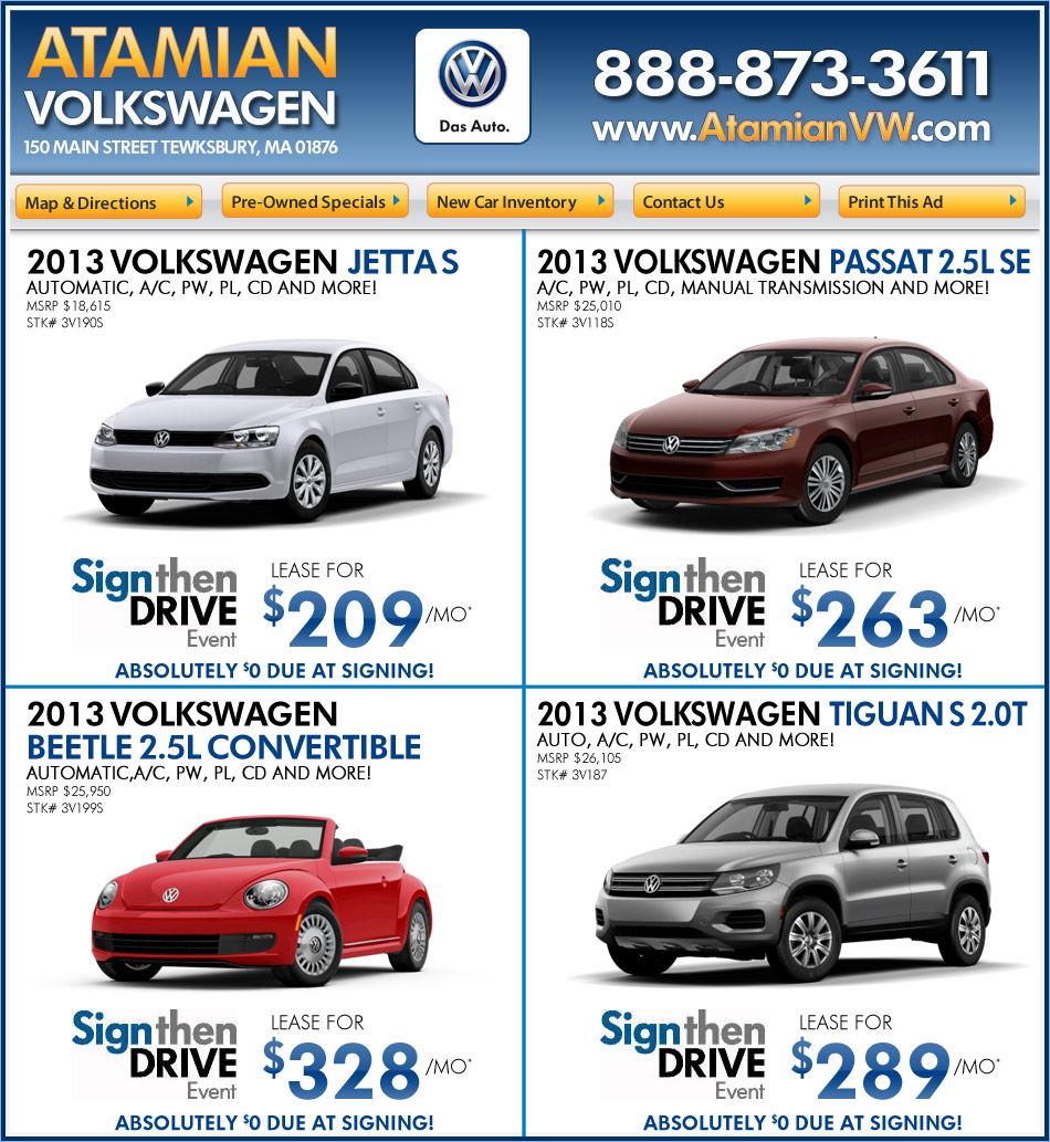 Ma Sales Tax On Cars >> Atamian Volkswagen