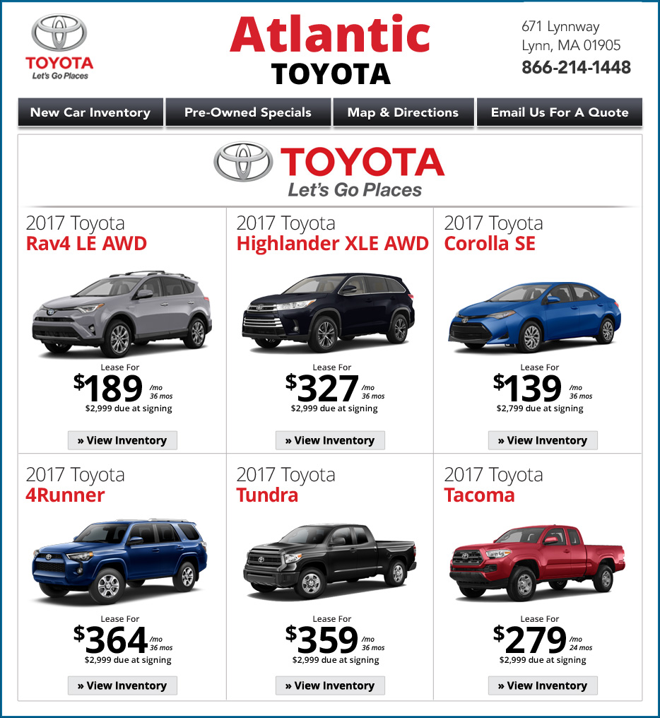 Toyota Dealerships Ma: MA Toyota Dealers : Atlantic Toyota Lynn, MA Dealership