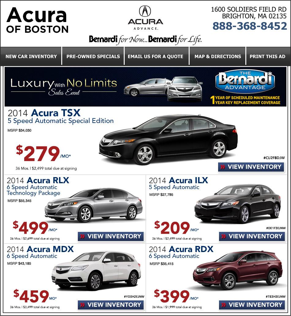 Acura Dealership Atlanta Area: Acura Lease Deal