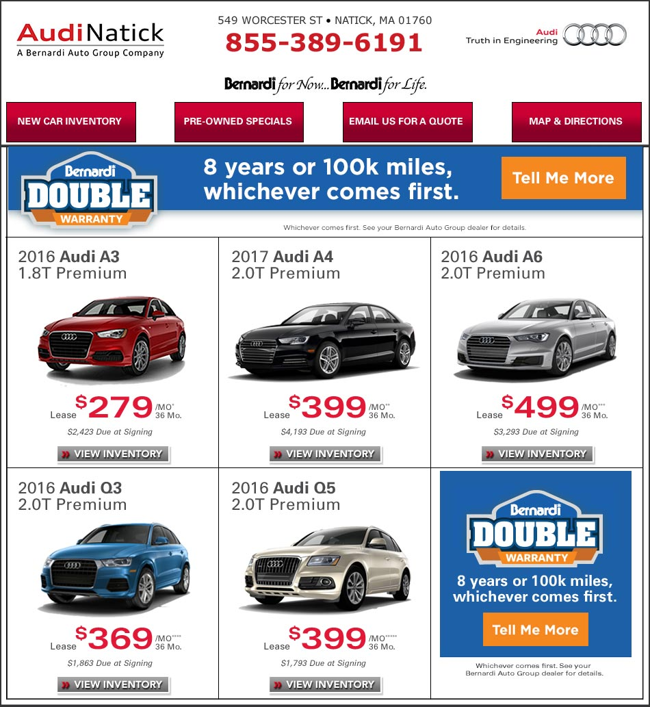 Audi Natick New Car Deals On Bostoncom Lease Or Buy Your New Audi - Audi boston