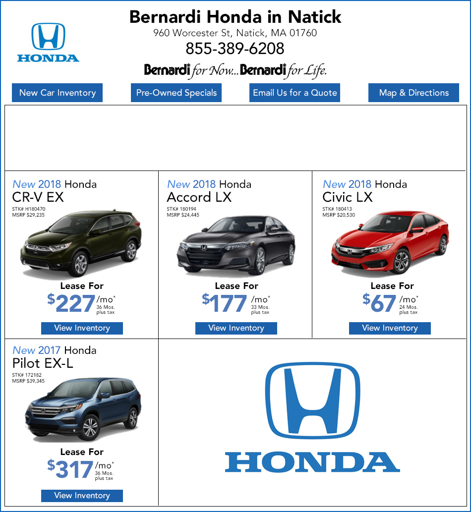 Honda Dealership Ma >> New Honda Lease Specials Honda Dealer Near Newton Ma