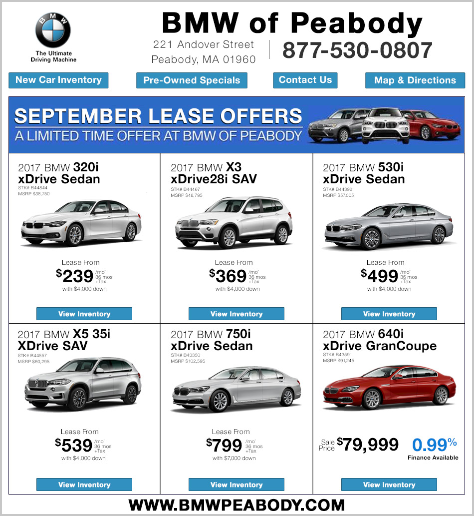all leases 36 month 10 000 miles per year bmw 750 is 36 month 7 500 miles per year prices based on lease or finance with bmw financial services