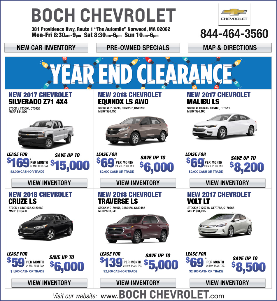 Chevrolet Leases: Ernie Boch Jr Lease Deals
