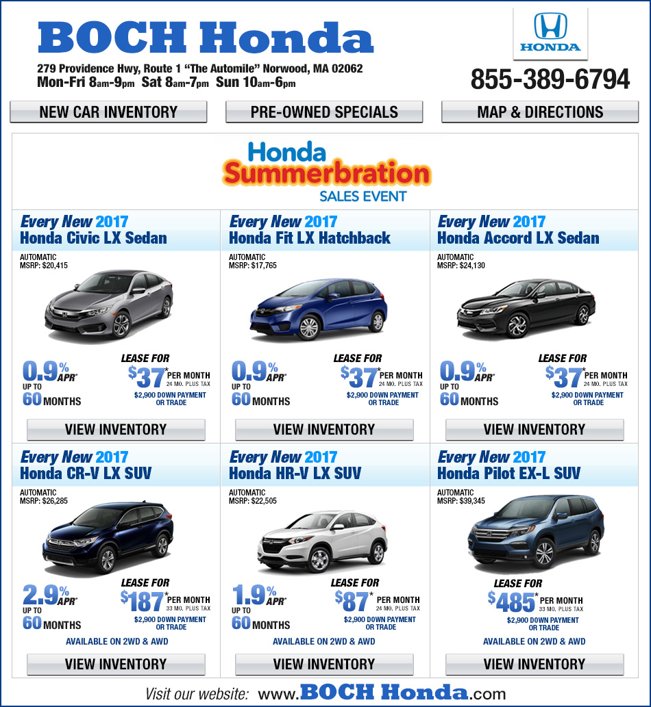 Boch honda on the automile in norwood ma for Boch honda norwood service