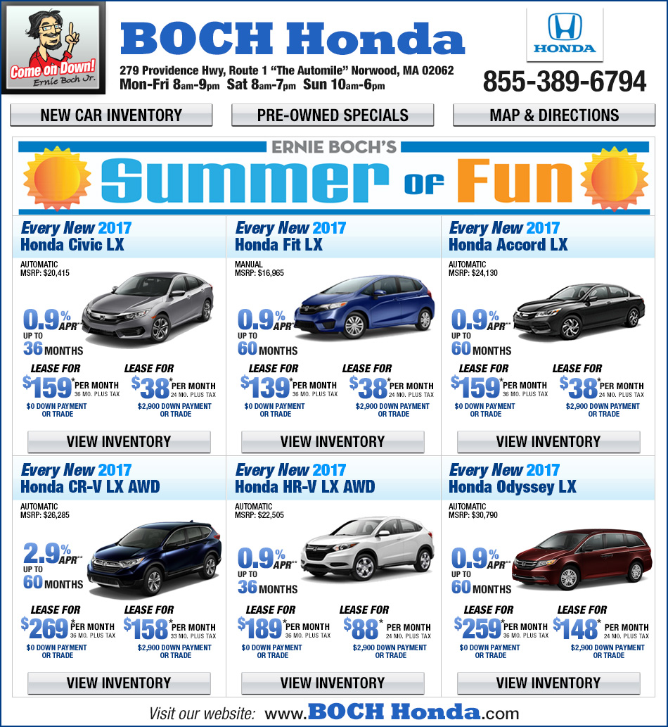 Boch honda on the automile in norwood ma for Honda norwood ma