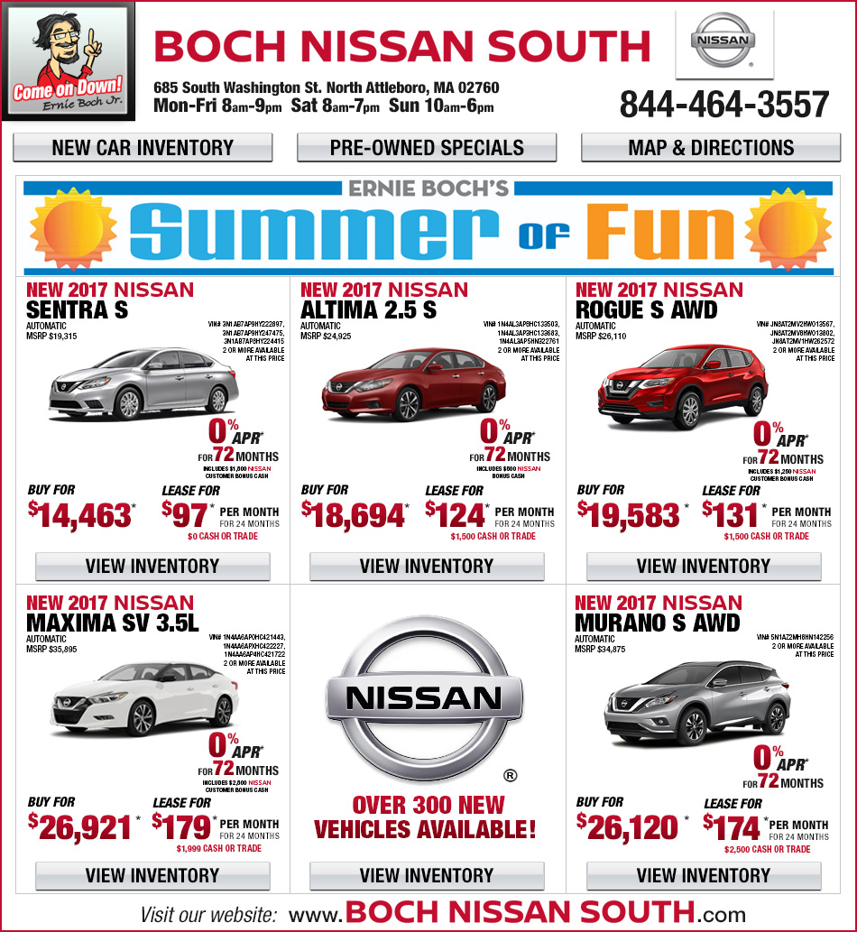 Boch Nissan South in North Attleboro, MA New Car Deals