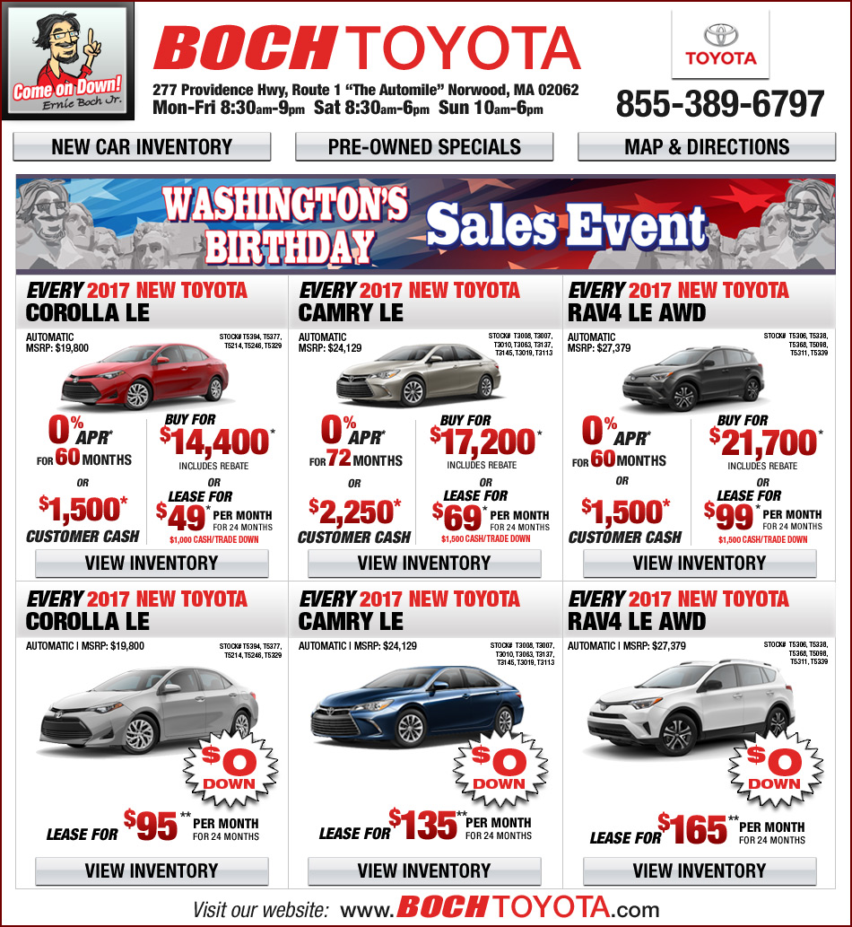Boch toyota on the automile in norwood ma for Toyota motor credit customer service