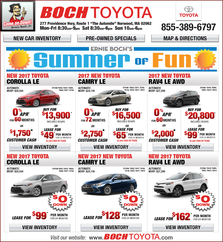 Lease A Toyota Corolla: Boch Toyota Lease Deals