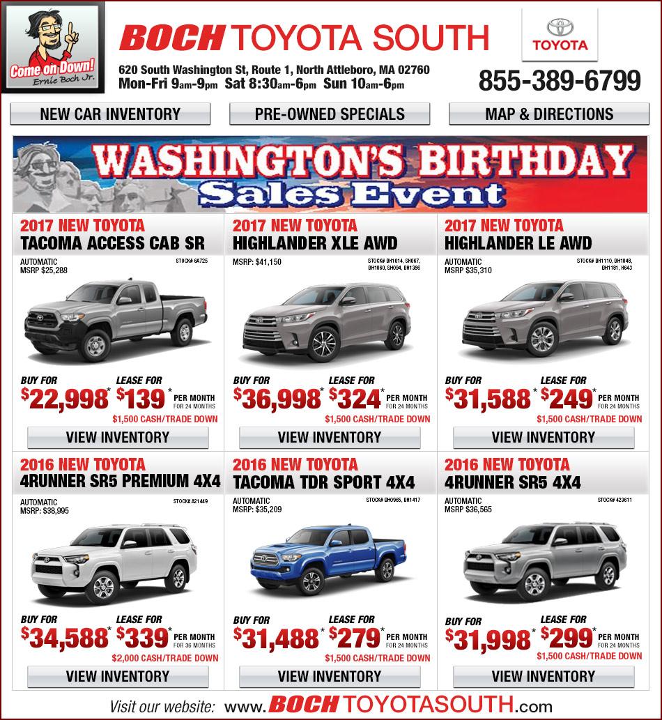 Boch Toyota South Additional Specials - North Attleboro, MA