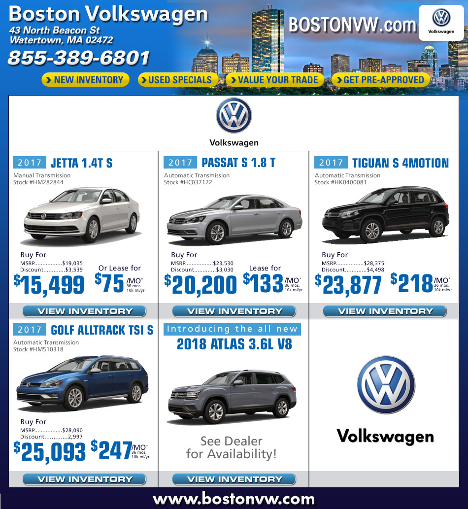 Boston Vw Dealers In Watertown Ma Boston Volkswagen Car Deals