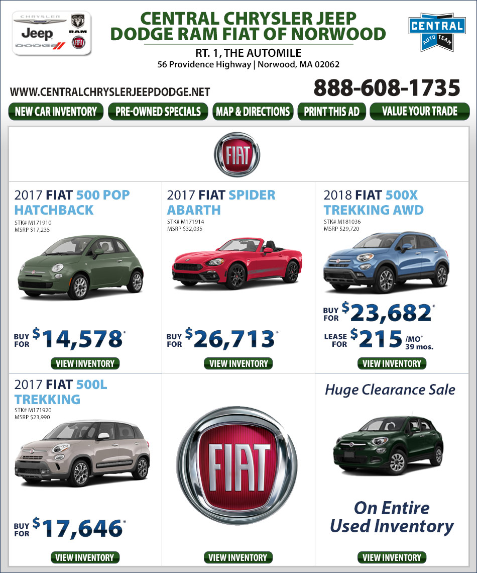 fiat specials | central jeep chrysler dodge ram fiat of norwood