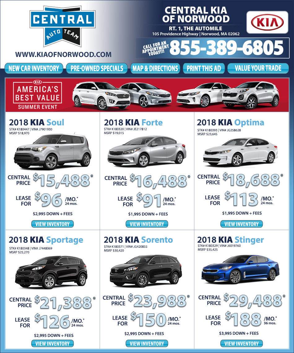 Kia optima lease deals ma lamoureph blog for Central motors norwood ma