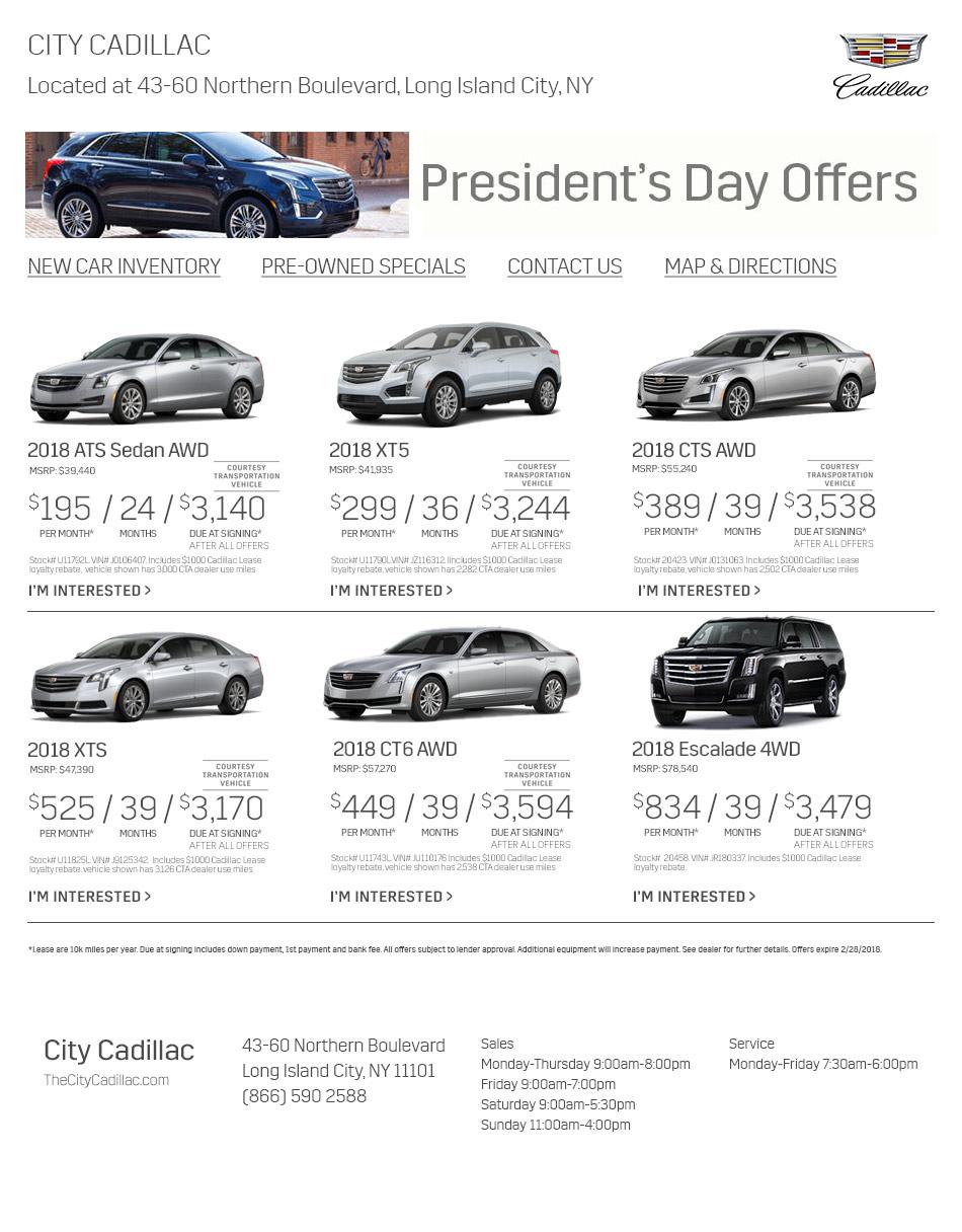 City Cadillac Is A Long Island City Cadillac Dealer And A New Car - Cadillac dealers ny