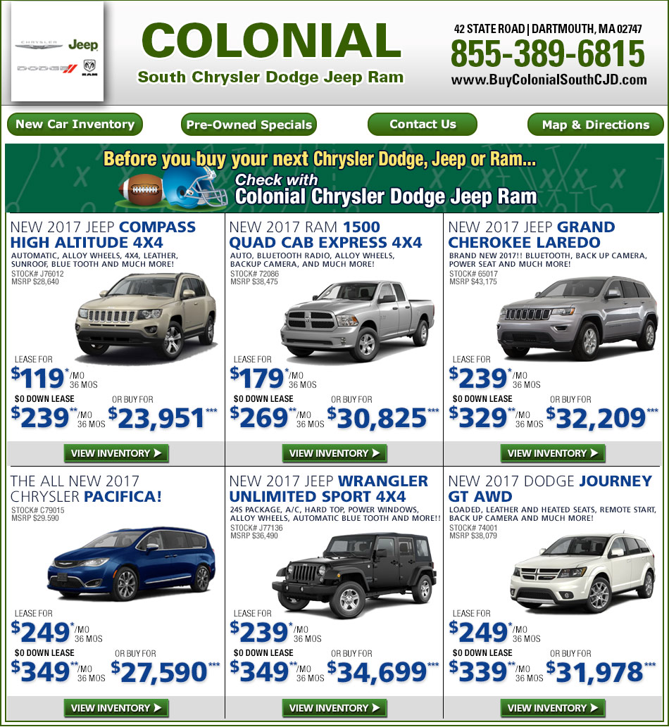 Boston.com: Colonial South Chrysler Jeep Dodge New Car