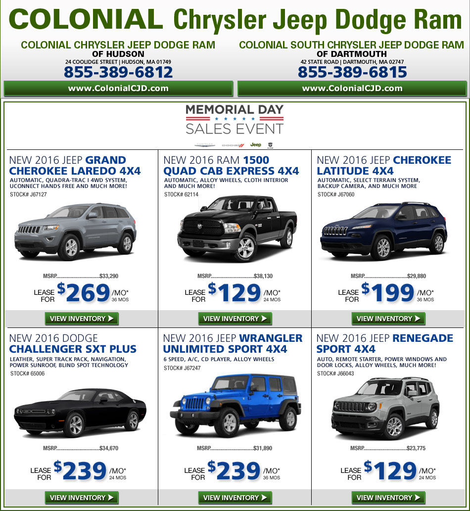 Chrysler Lease Deals