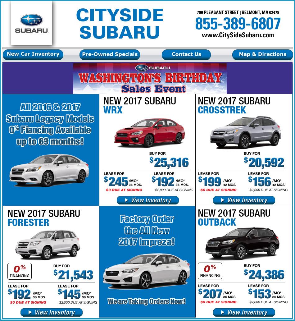 Boston Ma Subaru Dealer In Belmont Cityside Autos Post