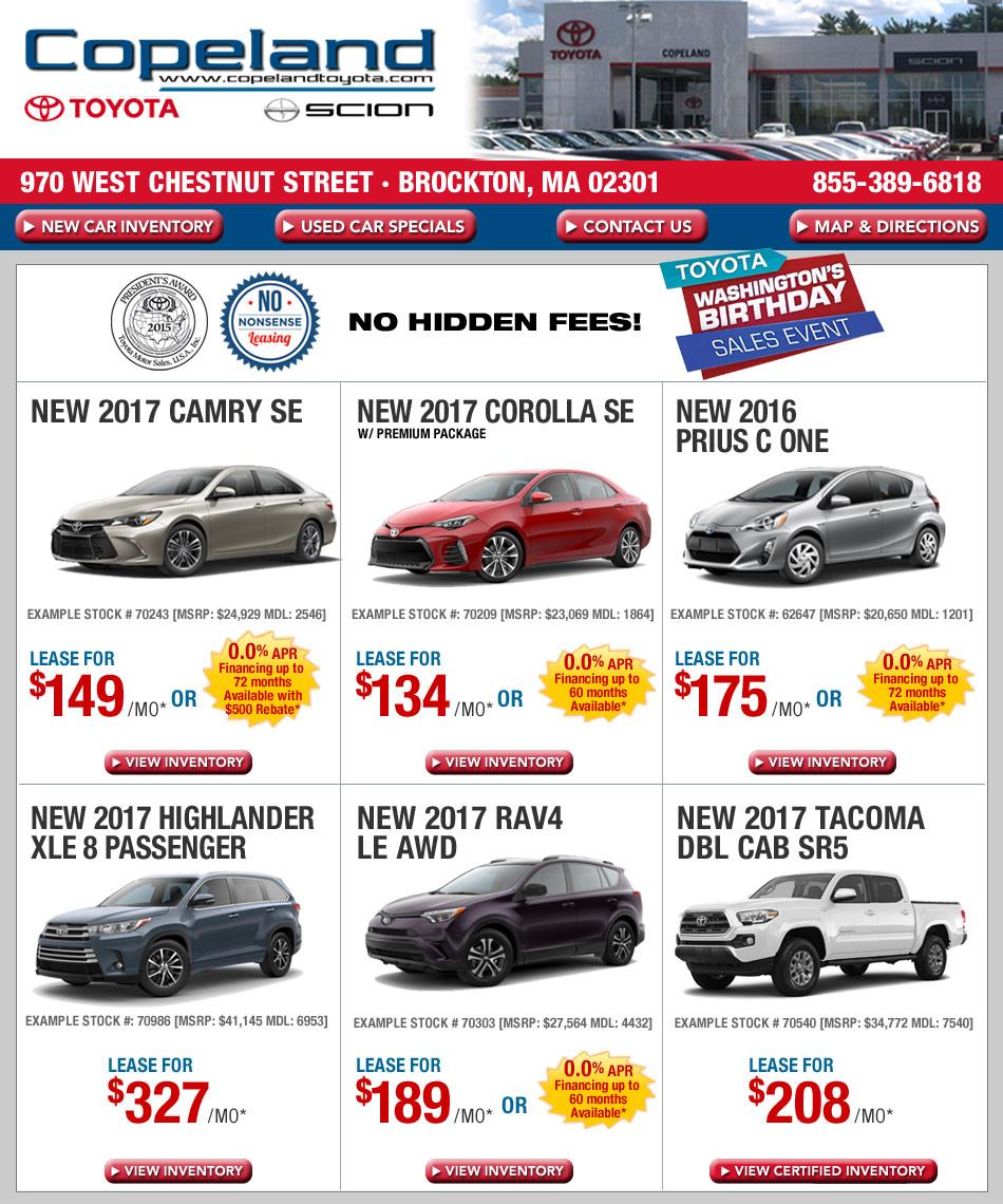 Toyota Maine: Massachusetts Toyota Dealers: Copeland Toyota Deals