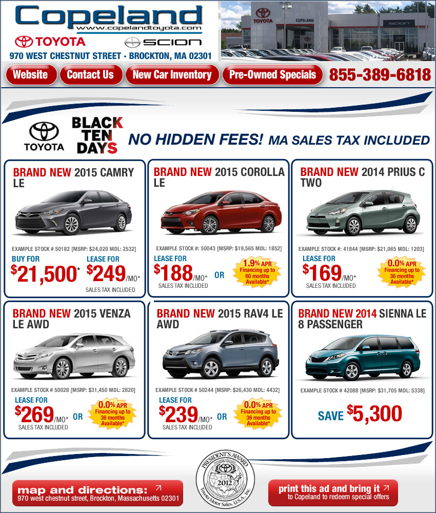 Toyota Lease Deals Boston Ma / Dodge Truck Deals And