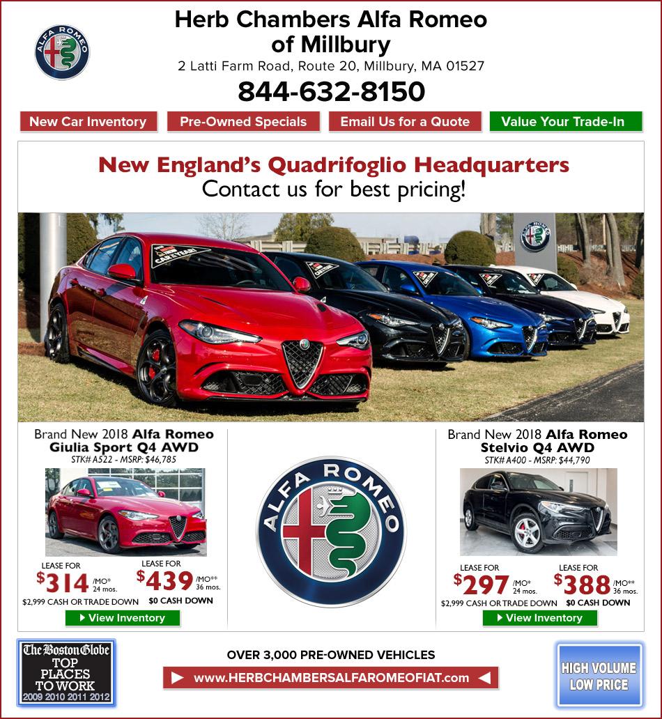 Herb Chambers Chrysler Jeep Dodge Ram Of Millbury: New Alfa Romeo Car Specials Herb Chambers Alfa Romeo