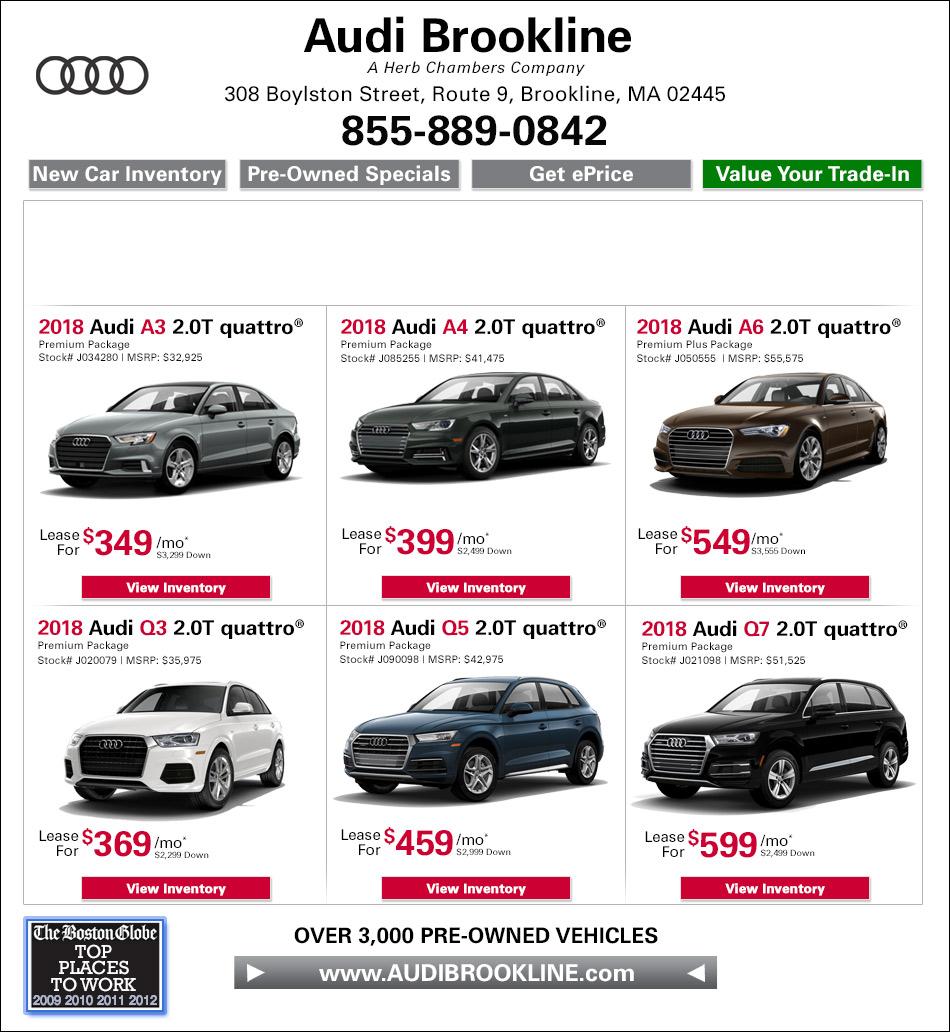 Current Audi Specials New Used Audi Dealer In Brookline MA - Audi dealerships in massachusetts
