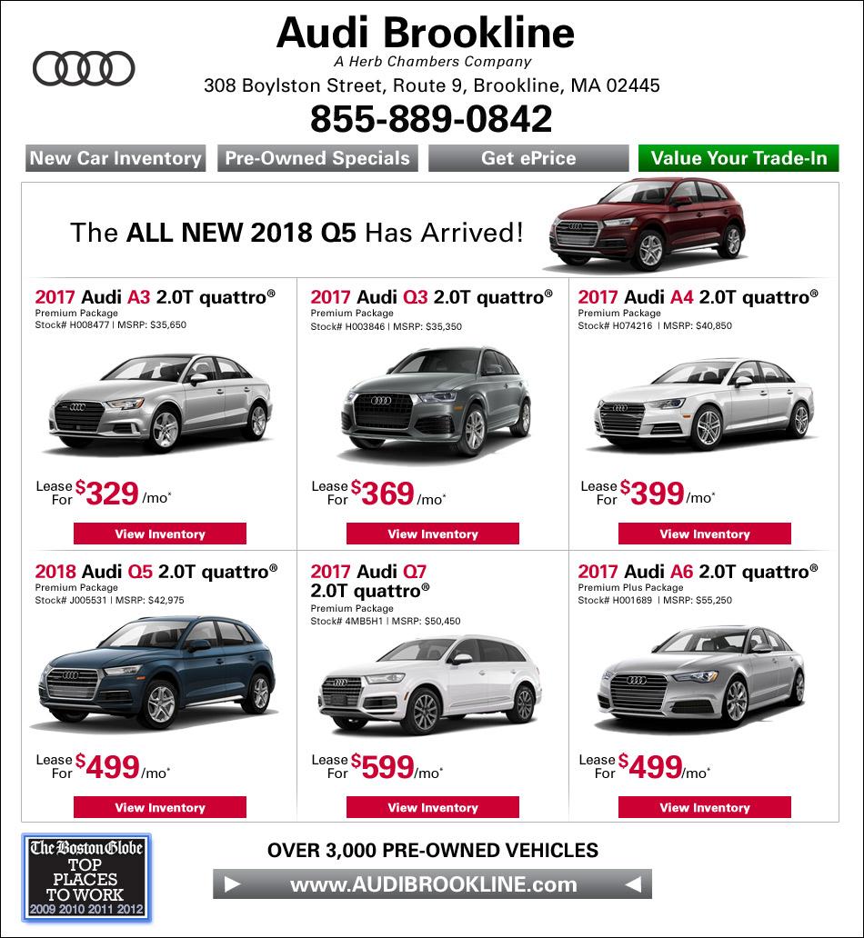 Boston Audi Audi Brookline A Herb Chambers Company Boston Audi - Herb chambers audi