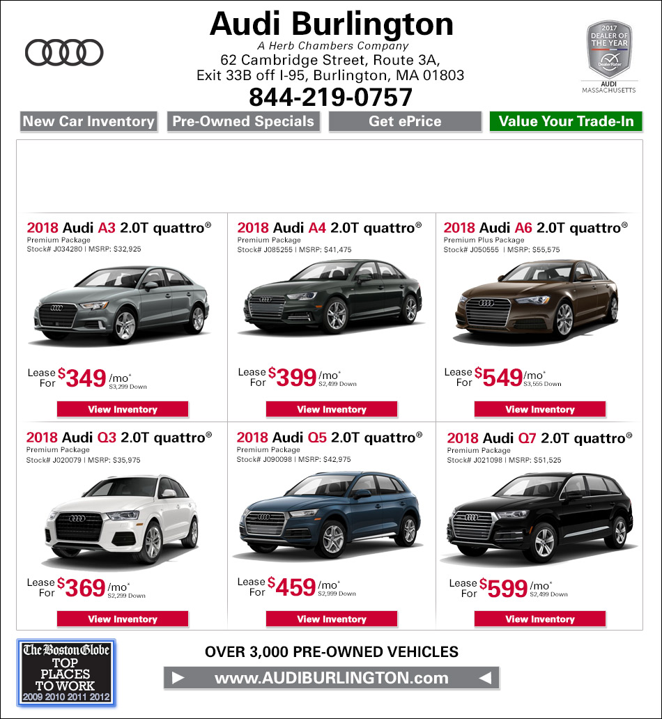 New Audi Specials Buy Or Lease A New Audi Near Medford MA - Audi a3 lease offers
