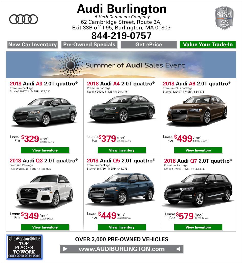 Herb Chambers Chrysler Jeep Dodge Ram Of Millbury: New Audi Specials From Audi Burlington