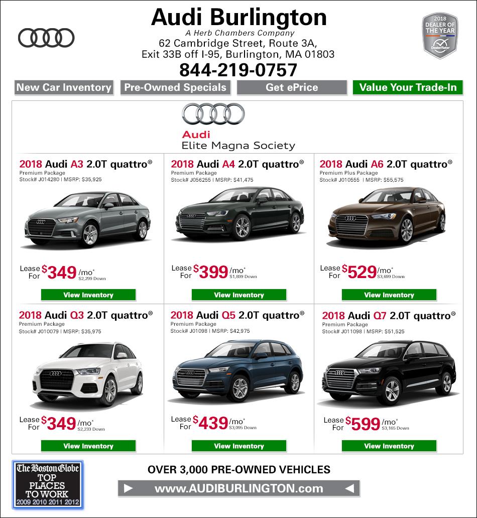 New Audi Specials From Audi Burlington