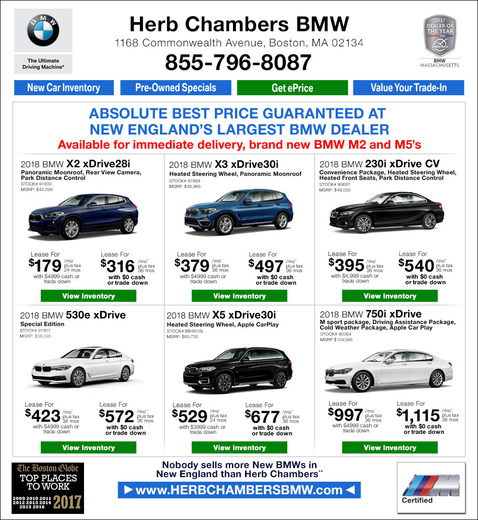 BMW New Car Specials Herb Chambers BMW Of Boston