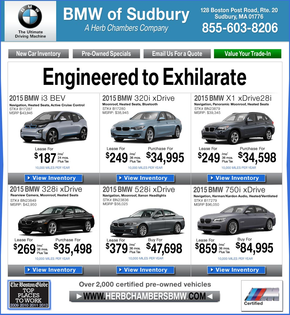 BMW Of Sudbury - A Herb Chambers Company