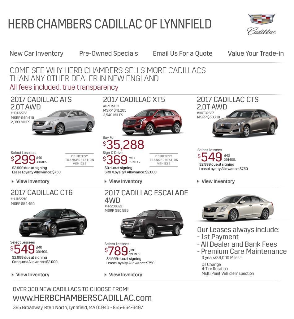 Herb Chambers Cadillac | Lynnfield Massachusetts Cadillac ...