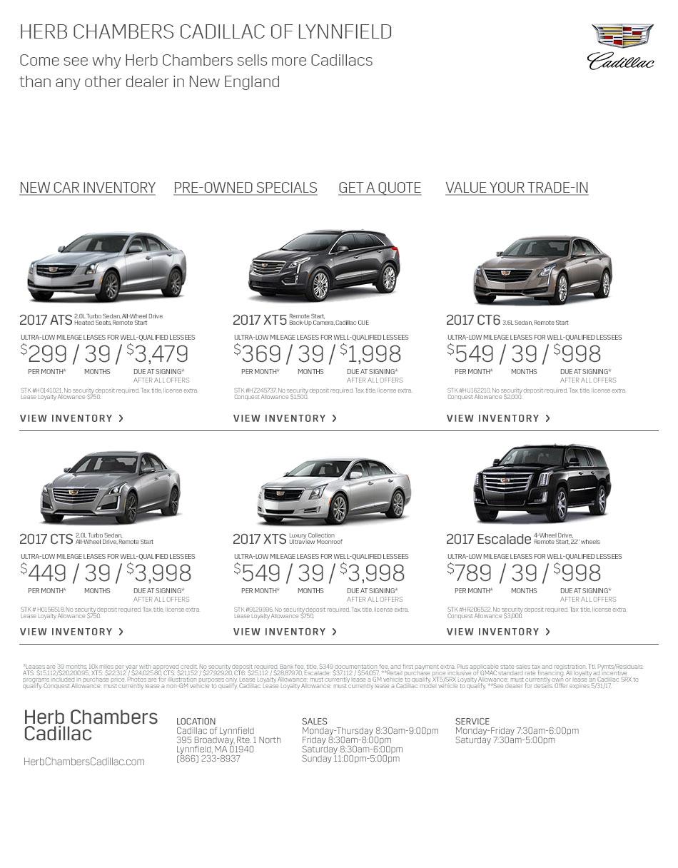 Herb Chambers Boston >> Herb Chambers Cadillac | Lynnfield Massachusetts Cadillac Dealers MA