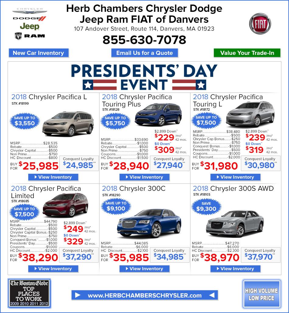 New Chrysler Specials Danvers MA Chrysler Deals Near Boston - Chrysler specials
