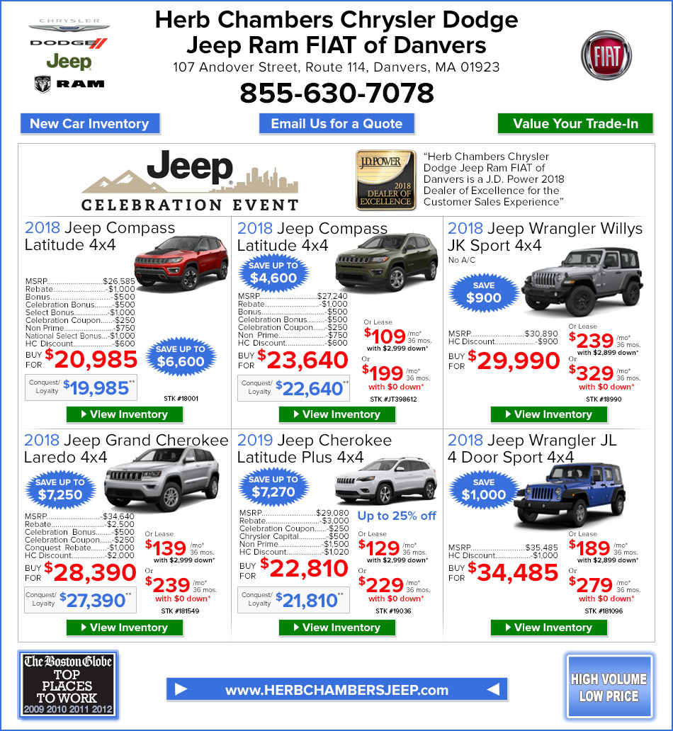 New Car Specials Danvers MA   Herb Chambers Chrysler Dodge Jeep Ram ...