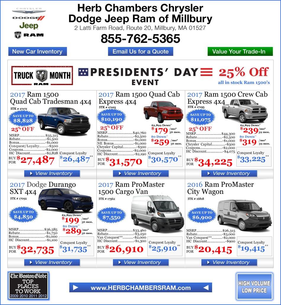 Herb Chambers Millbury >> Herb Chambers Chrysler Jeep Dodge of Millbury   Boston Dodge Ram Dealers