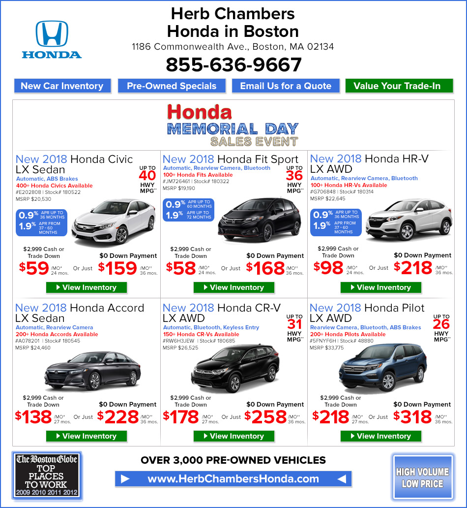 Herb Chambers Dodge >> Herb Chambers Honda in Boston | Honda Dealers Boston