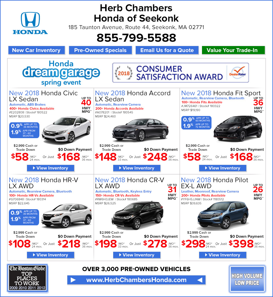 Herb chambers honda of seekonk providence ri honda fall for Honda dealerships in ri