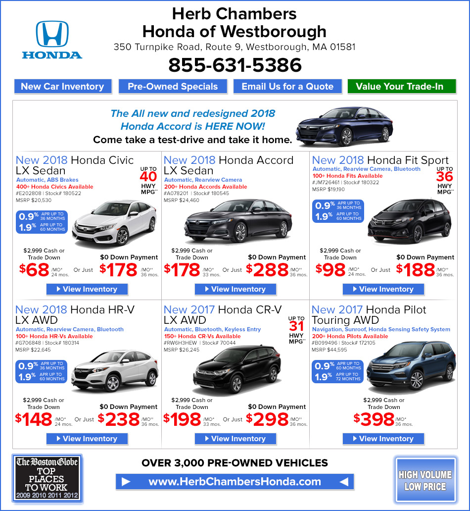 Herb chambers honda of westborough framingham honda for Herb chambers boston honda