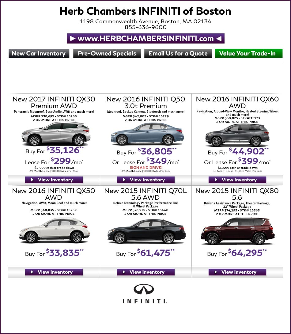 Herb Chambers Audi >> Herb Chambers Infiniti of Boston | Infiniti Dealers Boston