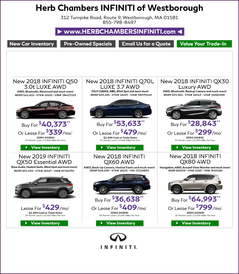 Herb Chambers Millbury >> Herb Chambers Infiniti of Westborough | Infiniti Dealers ...