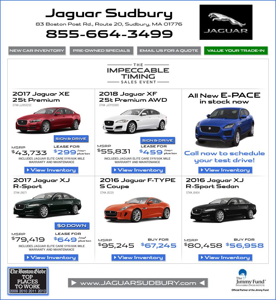 Ct Jaguar Dealers: Jaguar Sudbury, A Herb Chambers Company