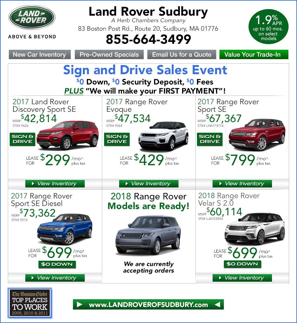 Herb Chambers Millbury >> Land Rover Sudbury, A Herb Chambers Company   Boston MA Land Rover Dealers Framingham