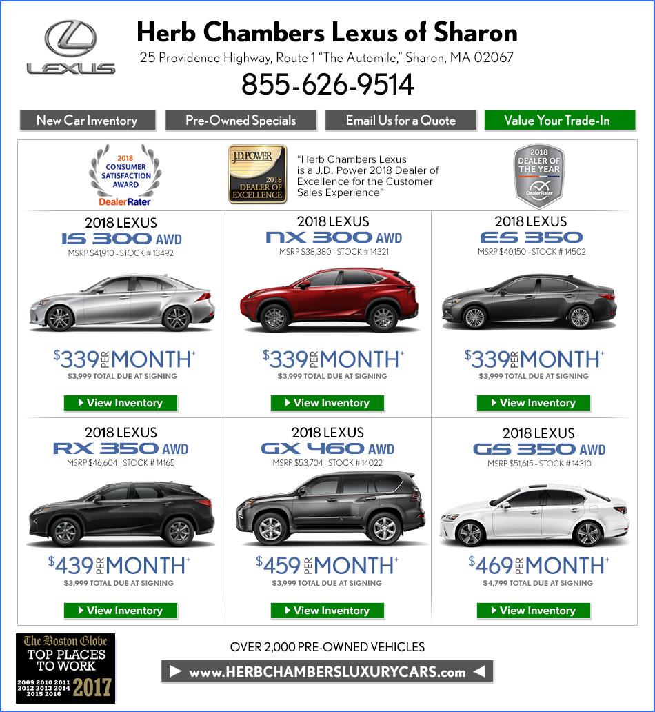 Herb Chambers Chrysler Jeep Dodge Ram Of Millbury: Herb Chambers Lexus Of Sharon
