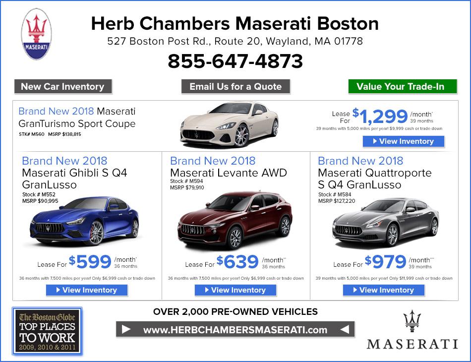 Herb Chambers Maserati Autos Post