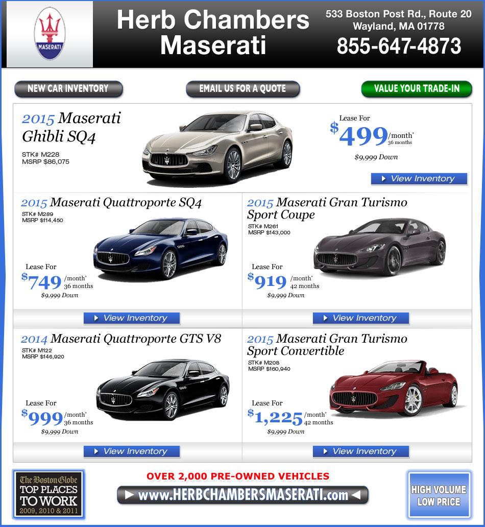 Boston MA Maserati Dealers