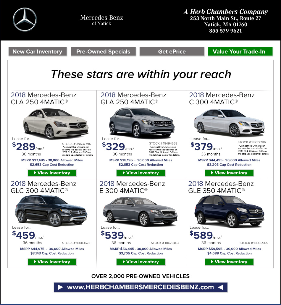 Mercedes benz of natick a herb chambers company natick for Mercedes benz herb chambers
