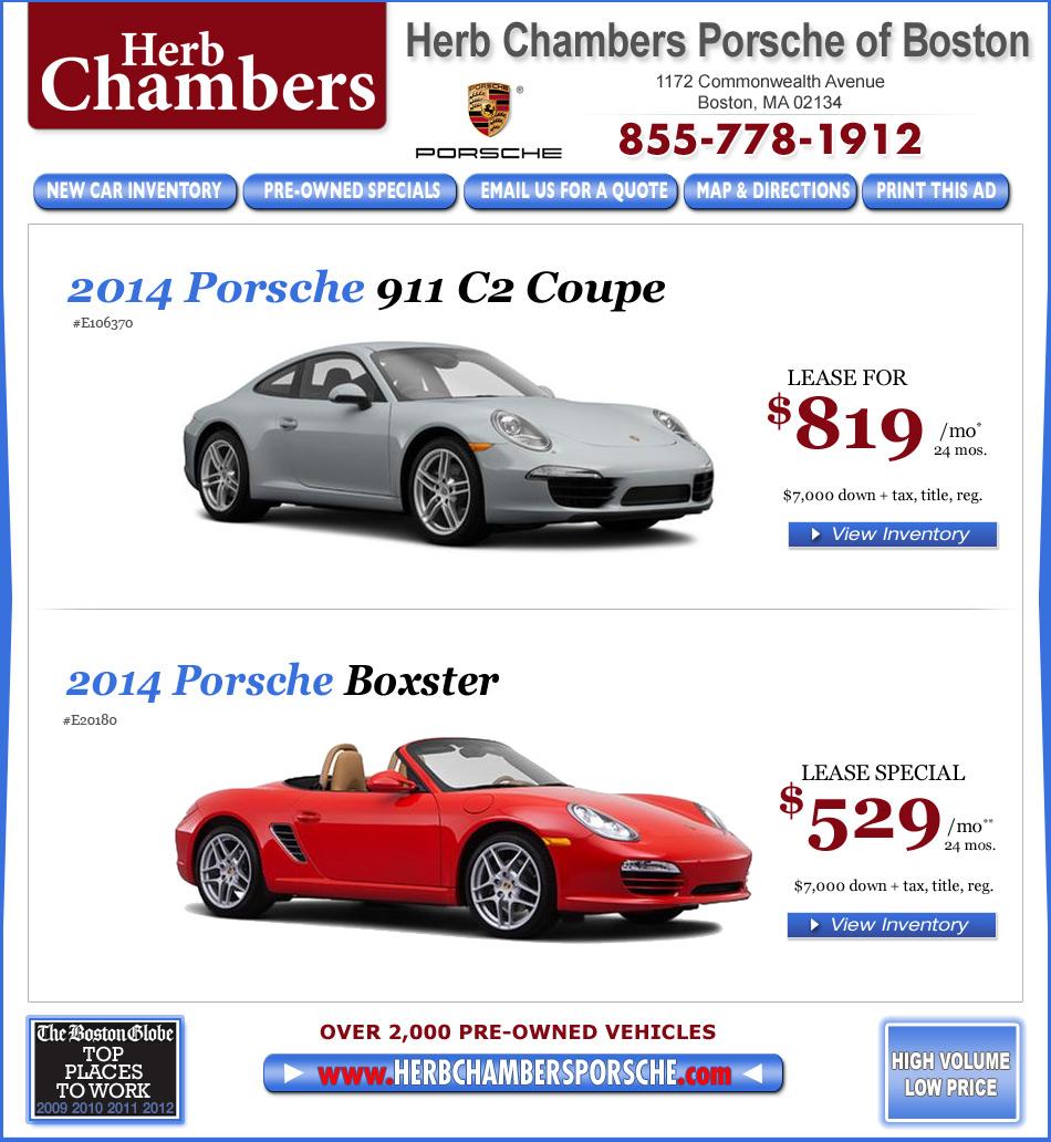 Lease Bmw 428i: Herb Chambers Porsche Of Boston