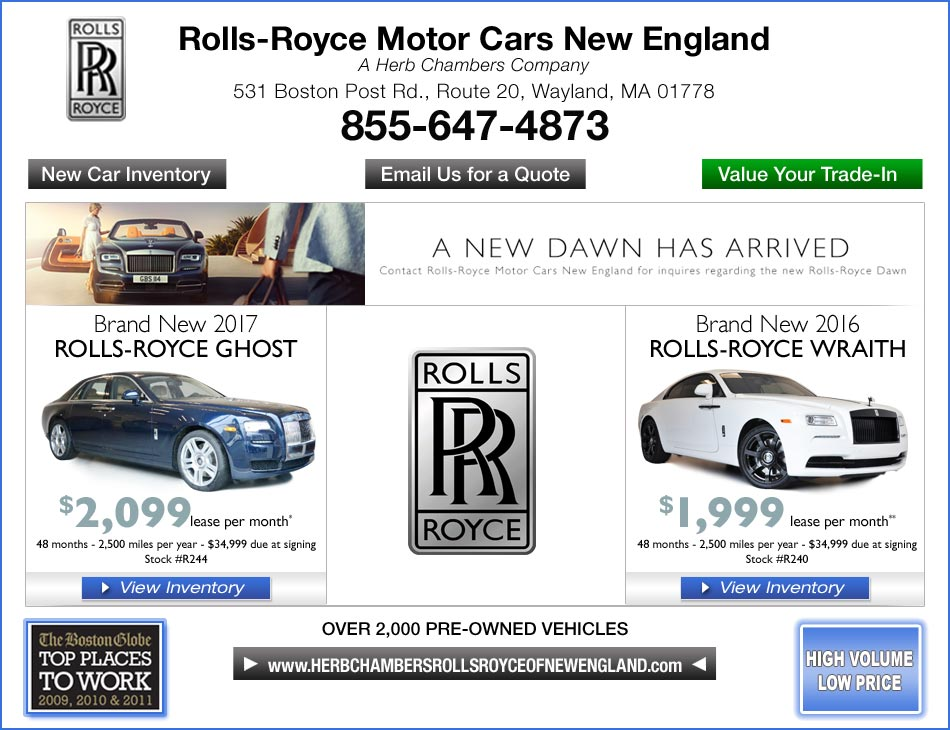 Rolls Royce Motor Cars New England A Herb Chambers Company Boston Ma Rolls Royce Dealers